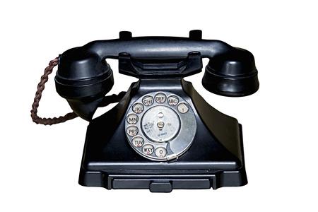 bakelite: Black bakelite telephone handset