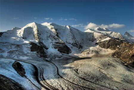 pal: Piz Pal� and Moteratsch glacier, view from Diavolezza, Engadin, Switzerland.
