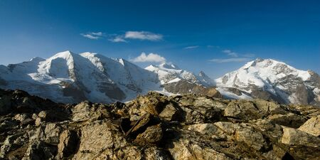 pal: Piz Pal�, Piz, Bernina, View from Diavolezza, Engadin, Switzerland