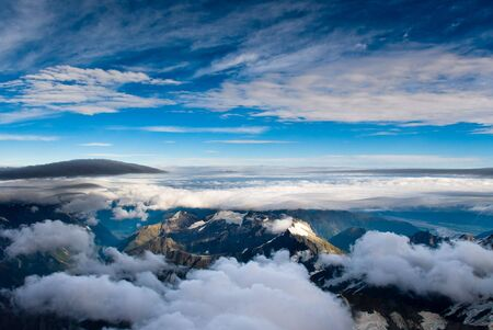 aerial view of mt. cook national park, new zealand Stock Photo