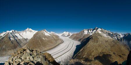 aletsch: Aletsch glacier, view from Eggishorn, Wallis, Switzerland