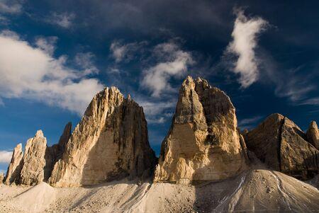 dolomites: Tre Cime di Lavaredo. Dolomites, Sexten, Italy.