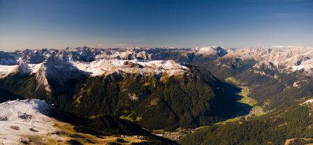 sella: Panoramic view from Sella, Dolomites, Italy
