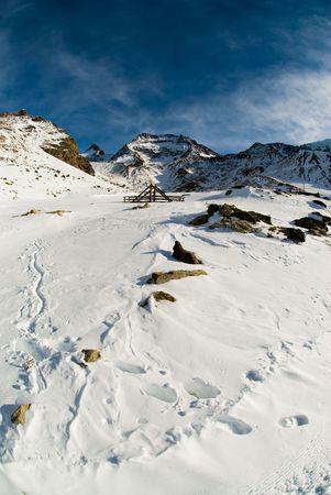 Saas Fee: Scenic view of alps at Kreuboden, Saas Grund near Saas Fee, Switzerland.