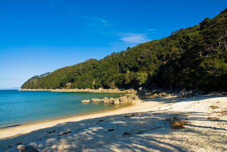 tasman: beach at abel tasman national park, south island, new zealand Stock Photo