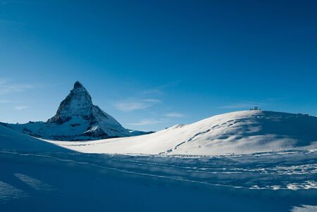 tranquille: matterhorn mountain peak from gornergrat, zermatt, switzerland