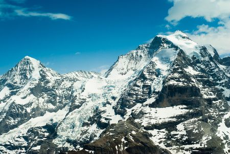 monch: Monch and Jungfrau mountain, view from Schilthorn, Switzerland
