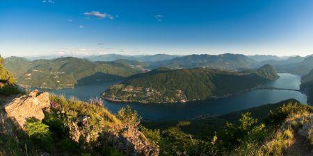 monte san giorgio panorama, tessin, switzerland