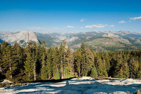 sentinel: scenic view from sentinel dome, yosemite national park, california, usa