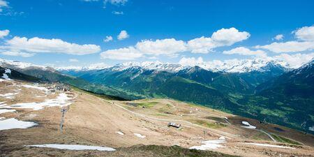 wallis: Panorama of swiss alps from Fiescheralp, Wallis, Switzerland