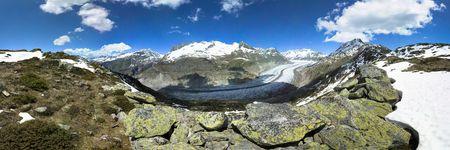 wallis: Aletsch glacier, view from Bettmerhorn, Wallis, Switzerland