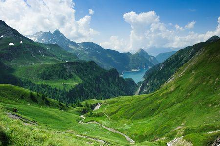 Lago di Luzzone, upper Blenio valley, Tessin, Switzerland photo