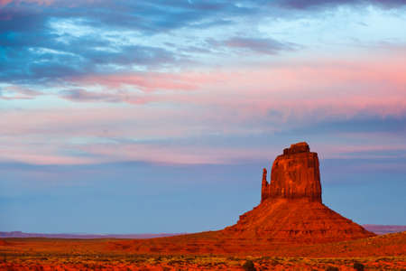 Monument Valley at sunset, Utah, USA photo