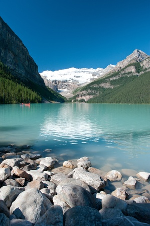 louise: Lake louise at Banff national park, Canada Stock Photo