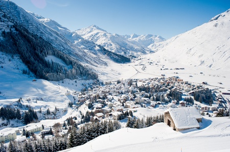 The village Andermatt in winter, Uri, Switzerland