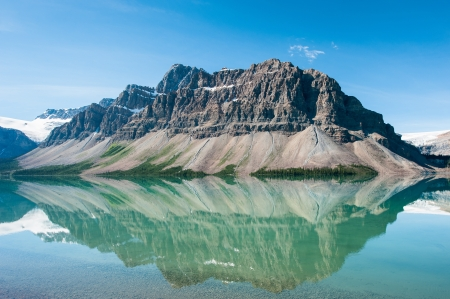 banff: Bow Lake in Banff National Park, Canada Stock Photo