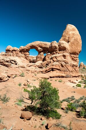 rock formation: Turret Arch in Arches National Park, Utah, USA