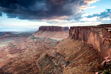 Distant canyons in Canyonlands National Park, Utah, USA photo