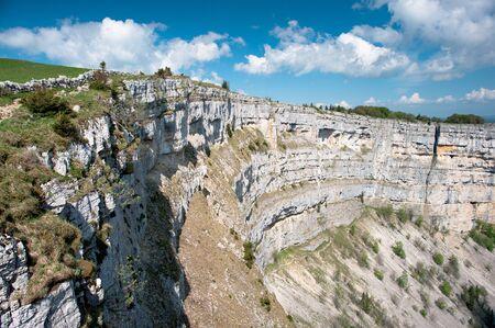 jura: Creux du van amphitheater, Neuchatel, Switzerland Stock Photo