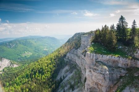 jura: Panorama from Creux du van, Neuchatel, Switzerland Stock Photo