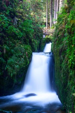 Waterfall of Menzenschwand Black Forrest, Baden Wuertemberg, Germany Stock Photo