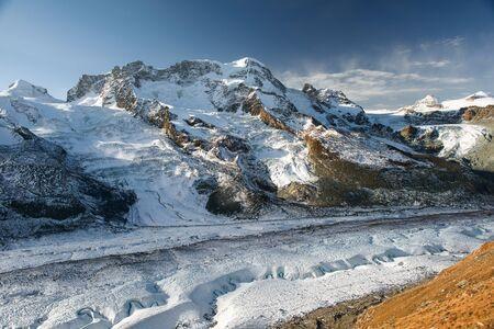valais: Breithorn mountain peak, view from Gornergrat, Zermatt, Switzerland