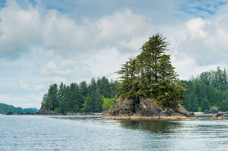 vancouver island: Shore with small island of Vancouver Island, British Columbia, Canada Stock Photo