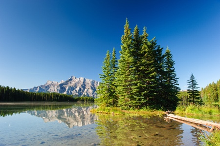 Mount Rundle from Cascade Ponds. Banff National Park, Canada Stock Photo - 17044709