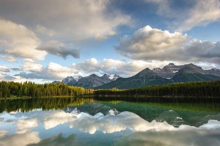 Herbert Lake panorama in Banff National Park, Alberta, Canada Stock Photo - 17048643