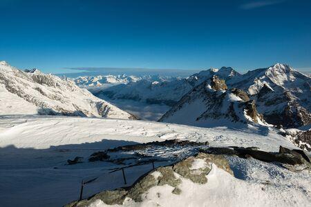 Saas Fee: Panoramic view from Mittelallalin, Saas Fee, Valais, Switzerland