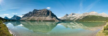 Bow Lake Panorama in Banff National Park, Canada photo