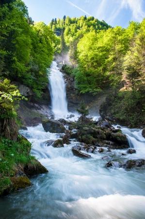 Giessbach waterfalls, Brienz, Switzerland Stock Photo