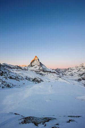 zermatt: Matterhorn at sunrise, view from Gornergrat, Zermatt, Valais, Switzerland