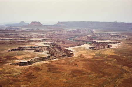 View of distant canyons from Island of the Sky in Canyonlands National Park, Utah, USA photo