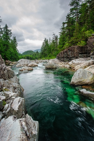 vancouver island: Small river on Sutton Pass, Vancouver Island, Canada