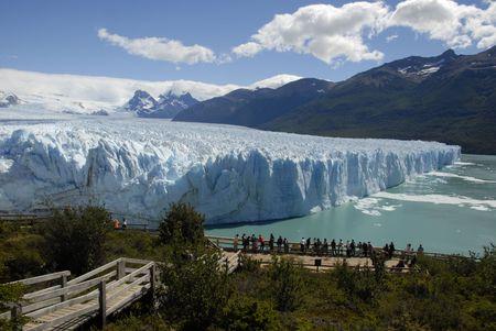 Argentina.Lake アルゼンチン パタゴニア エル ・ カラファテ Moreno ペリトモレノ氷河。