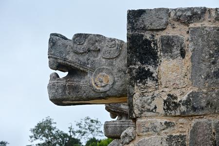 마 야 고고학 사이트 Chichen-Itza, 멕시코입니다.