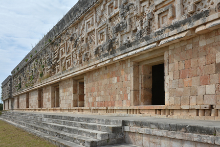 Governors Palace - Uxmal, Yucatan Peninsula, Mexico.The Governors Palace is one of the most admired of pre-Columbian structures. Located in Uxmal, Yucatan Peninsula, Mexico.