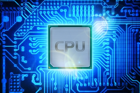 operating system: Computer Processor on Circuit Board Background  Computers Technology