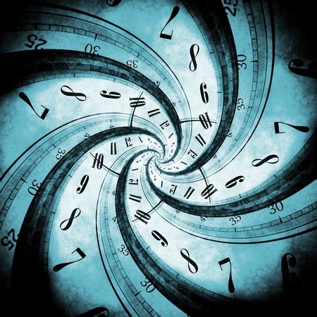 블랙 홀 (Black Hole)에 의해 소용돌이 시간과 시간 소용돌이 개념 그림. 스톡 콘텐츠
