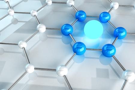 Material Structure Link Concept. Missed Link Conceptual Illustration. Standard-Bild
