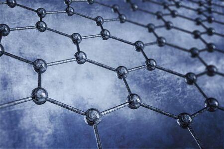chemic: Concetto Materiale Struttura illustrazione. Rendering 3D. Scienza Concept.