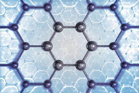chemic: Struttura molecolare Concetto Chemical illustrazione. Archivio Fotografico