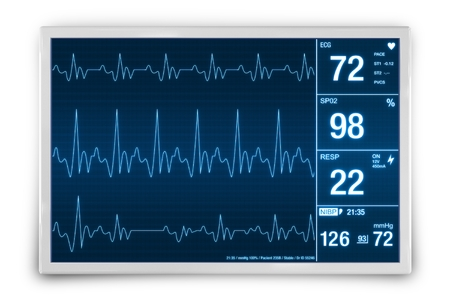 Heart Rate Monitoring Device 3D Render Illustration. Healthcare Technology.