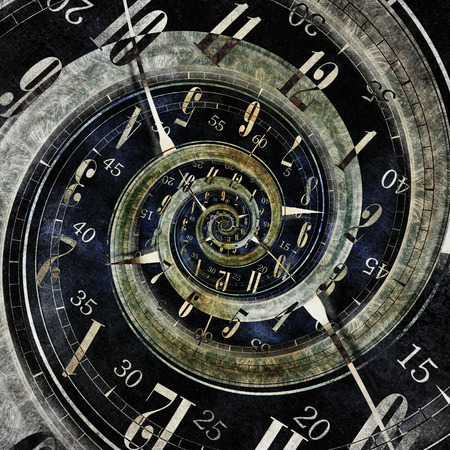 Endless Time Concept Illustration. Abstract Endless Clock Design.