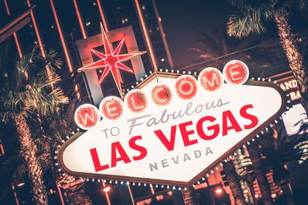 las vegas night: Las Vegas Nevada Famous Strip Sign at Night. United States.