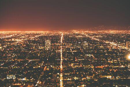 Los Angeles Metro at Night. Los Angeles, California, United States. Standard-Bild