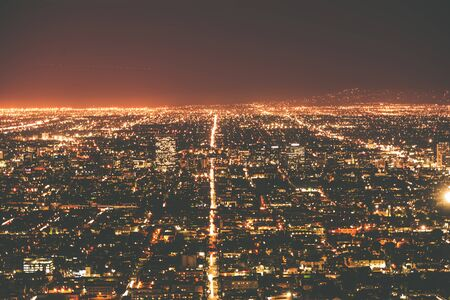 Los Angeles Metro at Night. Los Angeles, California, United States. Archivio Fotografico