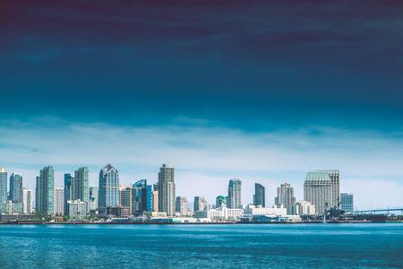 San Diego Bay. City of San Diego Summer Skyline Panorama. California, USA Standard-Bild
