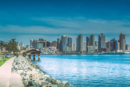 San Diego Bay Area, California, United States. San Diego Skyline and Bay Shore